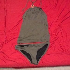 Michael Kors green halter style two piece bikini